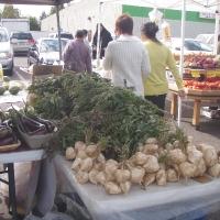 Gian hàng bán rau quả của Người Hmong