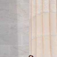 Bạch Yến at Lincoln Memorial, Washington DC, April 7, 2011