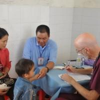 Dr. Ed and his young patient -  Tuy Phước Bình Định